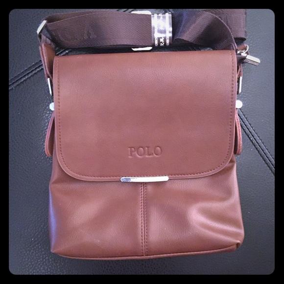 a3b0fe87aec2 Brand New Videng Polo Man Bag. Color  Brown.