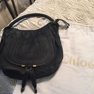 Authentic Black Chloe Marcie hobo(medium)
