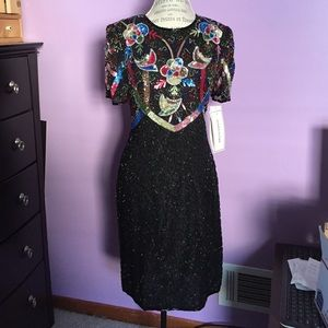 Dresses & Skirts - 🆕Vintage Silky Nights By Cherish Sequins Dress