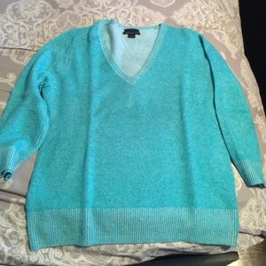 JCrew cashmere turquoise sweater