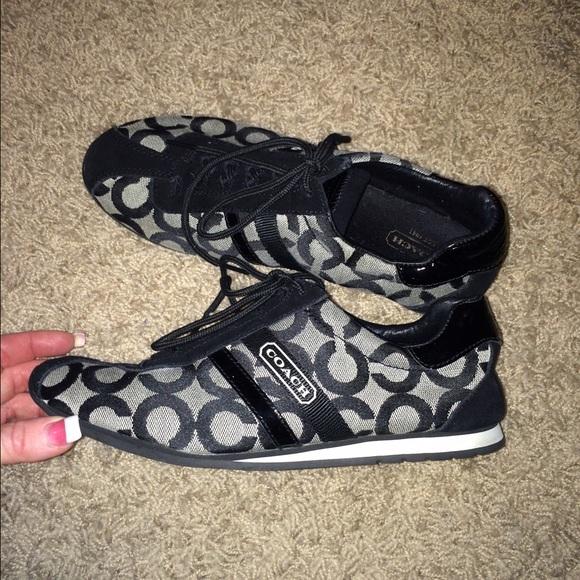 87 coach shoes authentic coach tennis shoes black