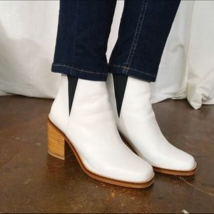 Shelley's White Ankle Boots