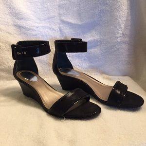 Alfani Shoes - Black Low Wedge Sandal