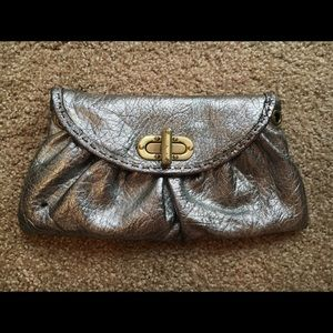 Carla Mancini Amy Mini Clutch in silver