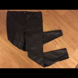ABS Platinum faux leather pants zippers 6