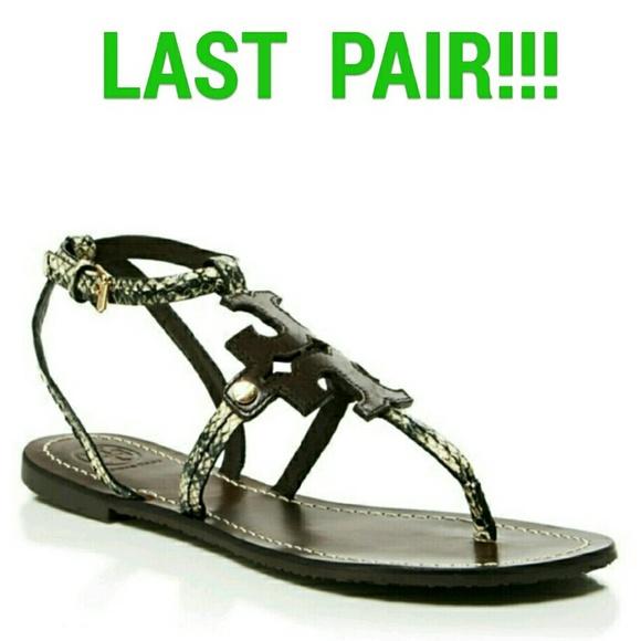 702ebca4c3a40 Tory Burch Black Brown   Coconut Gladiator Sandals
