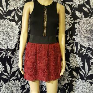 Stoosh Dresses & Skirts - Rose textured circle skirt