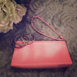 Lodis Handbags - Lodis pink leather wristlet/clutch