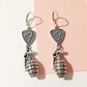 king baby studio Jewelry - king baby studio grenade guitar pick earrings