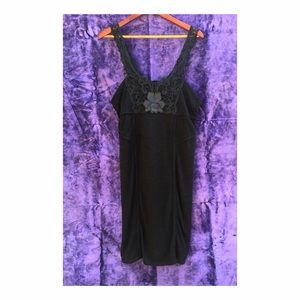 Free People Bodycon boho little black dress