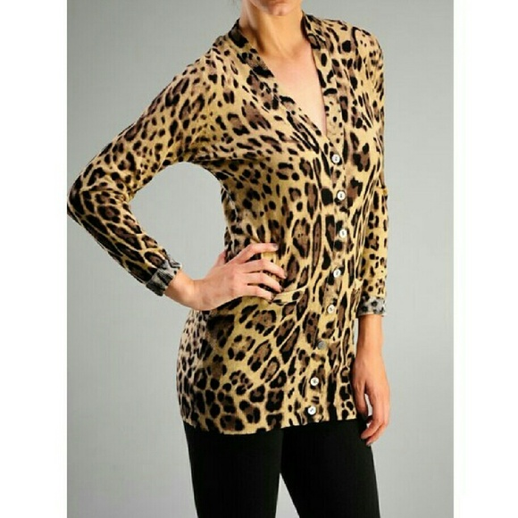 ellison - LEOPARD CARDIGAN from Loann's closet on Poshmark