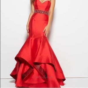 NWT red formal prom or pageant dress