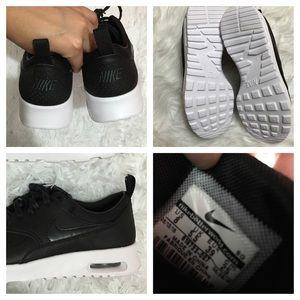 Para Mujer De Cuero Negro Thea Nike Air Max sAfVozq
