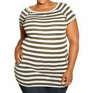 SWAK Tops - 2X Size Appeal from SWAK Striped Willa Top