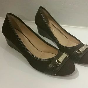 ANTONIO MELANI Shoes - Dark Brown suede leather wedges