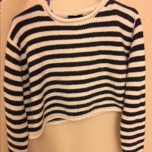Zara chunky striped sweater