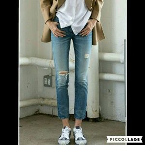 3x1 Denim - 3x1 High Rise Straight Leg Crop Jeans in McQueen