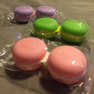 Other - Macaron contact lens cases