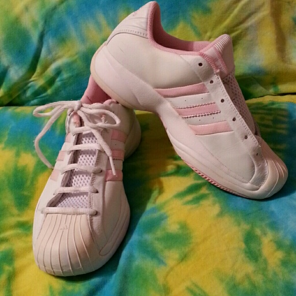 Adidas Superstar Baby Pink & White Shoes 6