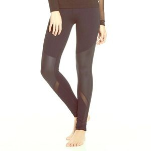 8dc243b5e01 Fabletics Pants - CLOVER LEGGING II FABLETICS BLACK SHEER MESH YOGA