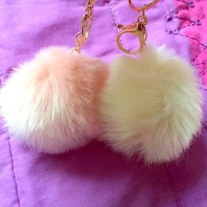 Fur ball key chain  never been worn