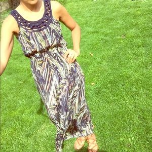 Anthro silk maxi dress