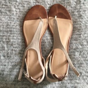 Shoes - Calvin Klein t strap flats