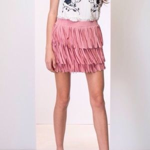 April Spirit Dresses & Skirts - STRAWBERRY ICE BOHO FRINGE MINI SKIRT. 5⭐️RATED⭐️