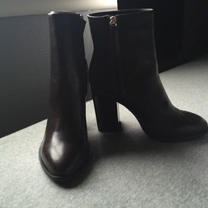 NWT leather brown booties