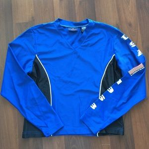 The limited Lycra gym cycling top royal blue