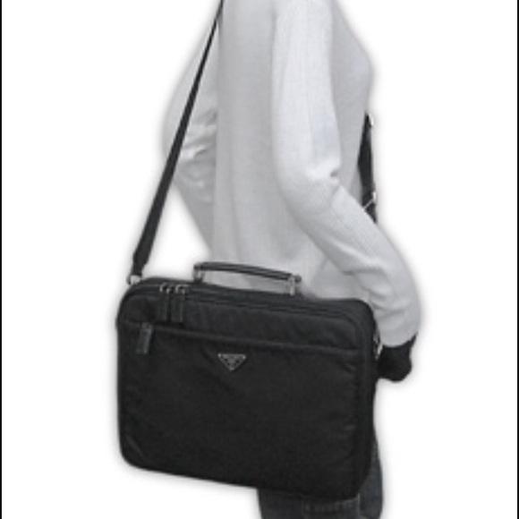 69357144287f Prada Viaggio black laptop briefcase. M 57262a0df739bcdf67004668