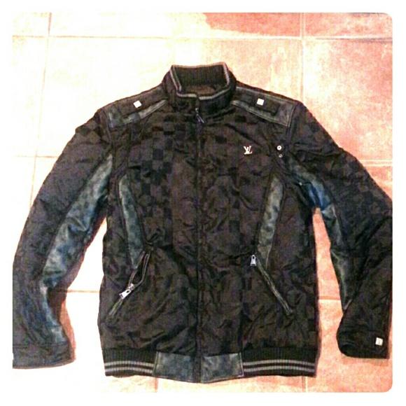 e8c5cd066384 Louis Vuitton Other - Men s Louis Vuitton Black Damier Motorcycle Jacket
