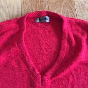 Jantzen Sweaters - Vintage Men's red v-neck wool knit sweater