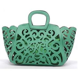 Handbags - 🛍 ISO Green Laser Cut Tote
