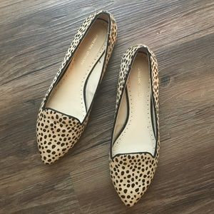 Adrienne Vittadini Shoes - RESERVED: Calf hair leopard print flats, size 7.5