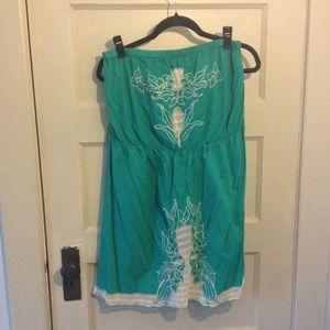 Faith 21 (Forever 21) Green Strapless Dress