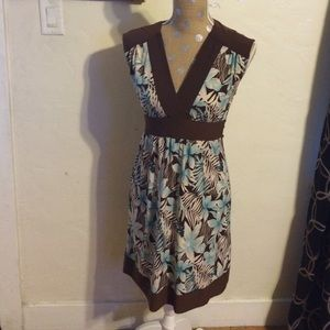 City Triangles Dresses & Skirts - Brown and turquoise floral dress