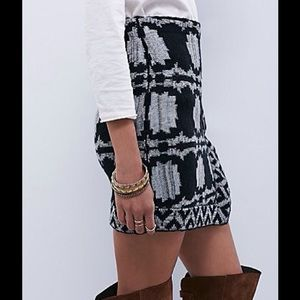 FREE PEOPLE WRAPPED IN YOUR BLANKET KNIT SKIRT