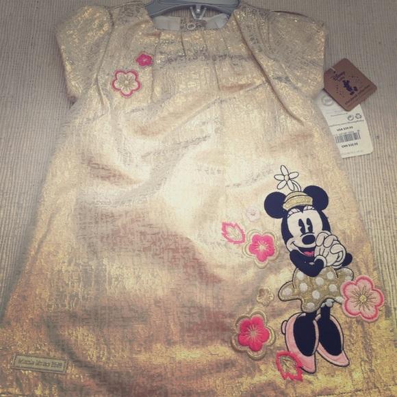 Disney Dresses Gold Minnie Mouse Dress Poshmark