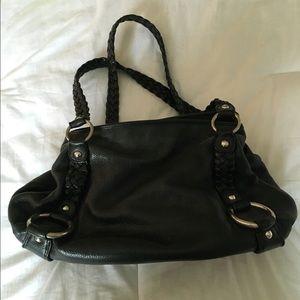 Black leather banana republic purse