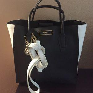 DKNY saffiano leather handbag