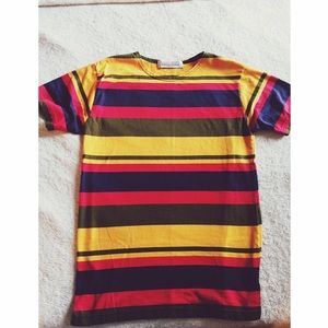 90s vintage colorful striped t
