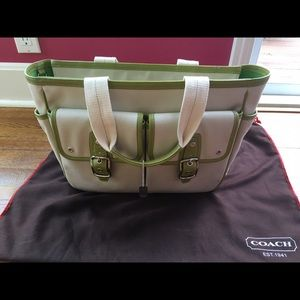 Lightly used Coach bag with cloth bag included.
