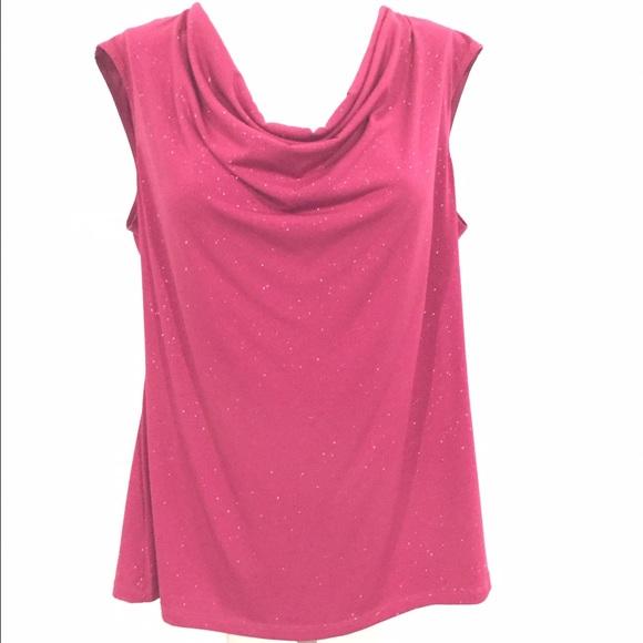 7e3da3c3a9 Dress Barn Tops - Pink Sparkly Shell from Dressbarn! XL!