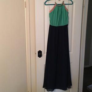 Dresses & Skirts - Dressy Maxi Dress with Jeweled Collar