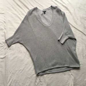 Express gray sweater