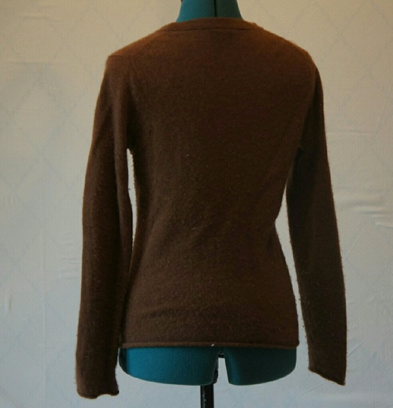 91% off J. Crew Sweaters - J. Crew Chocolate Brown Cashmere ...