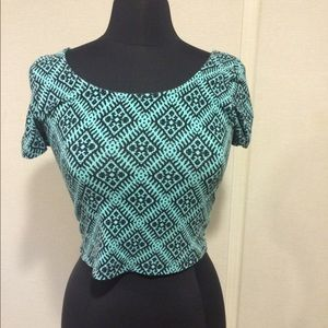 Material Girl Tops - Adorable short sleeved crop top.