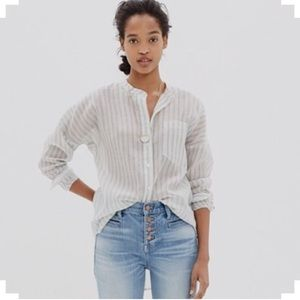 Madewell cotton/silk stripe shirt