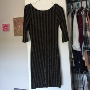Draped-back dress